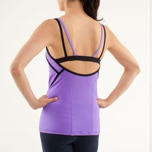 Lululemon Ignite Tank  Power Purple / Black